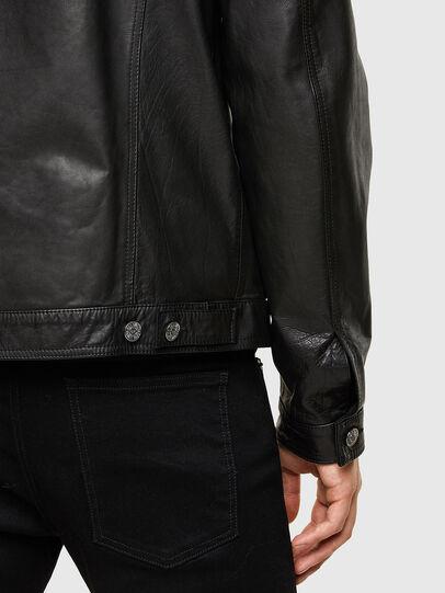 Diesel - L-PAD, Black - Leather jackets - Image 4