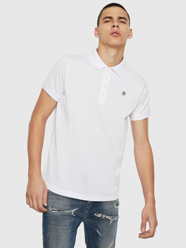 Diesel - T-WEET, White - Polos - Image 1