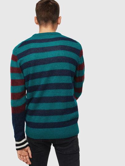 Diesel - K-BOH, Blue/Red - Knitwear - Image 2