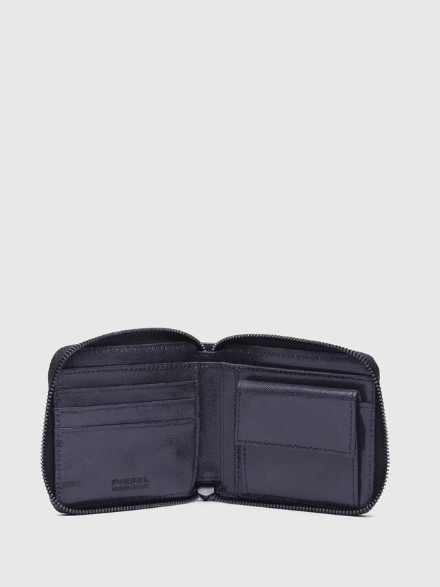Diesel - ZIPPY HIRESH S WITH, Indigo - Zip-Round Wallets - Image 4