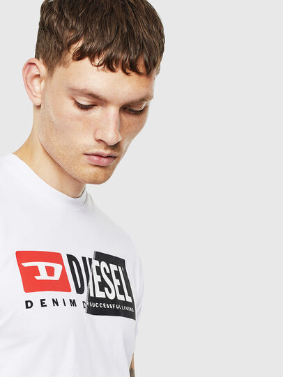Diesel - T-DIEGO-CUTY, White - T-Shirts - Image 5