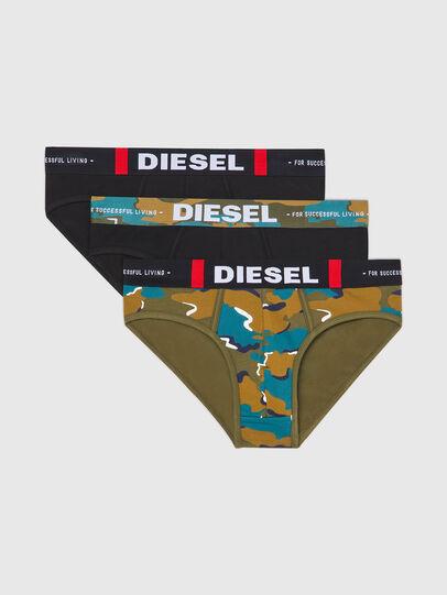 Diesel - UMBR-ANDRETHREEPACK, Black/Green - Briefs - Image 1