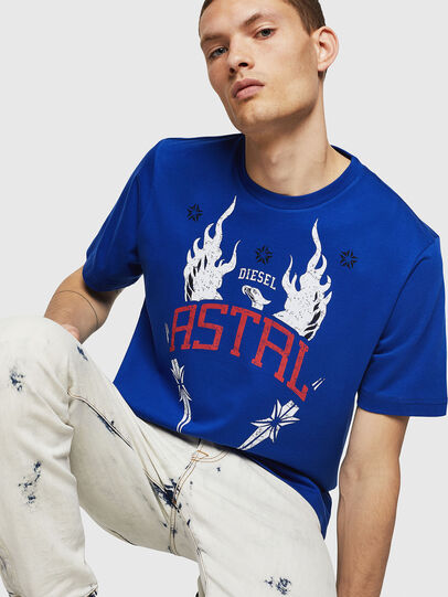 Diesel - T-JUST-A5, Brilliant Blue - T-Shirts - Image 4