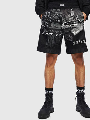 P-KUMI-PRINT-A, Black - Shorts