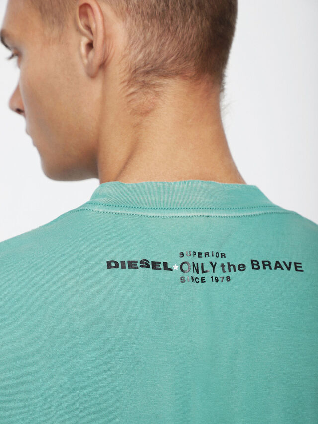 Diesel - T-JOEY-T, Water Green - T-Shirts - Image 3