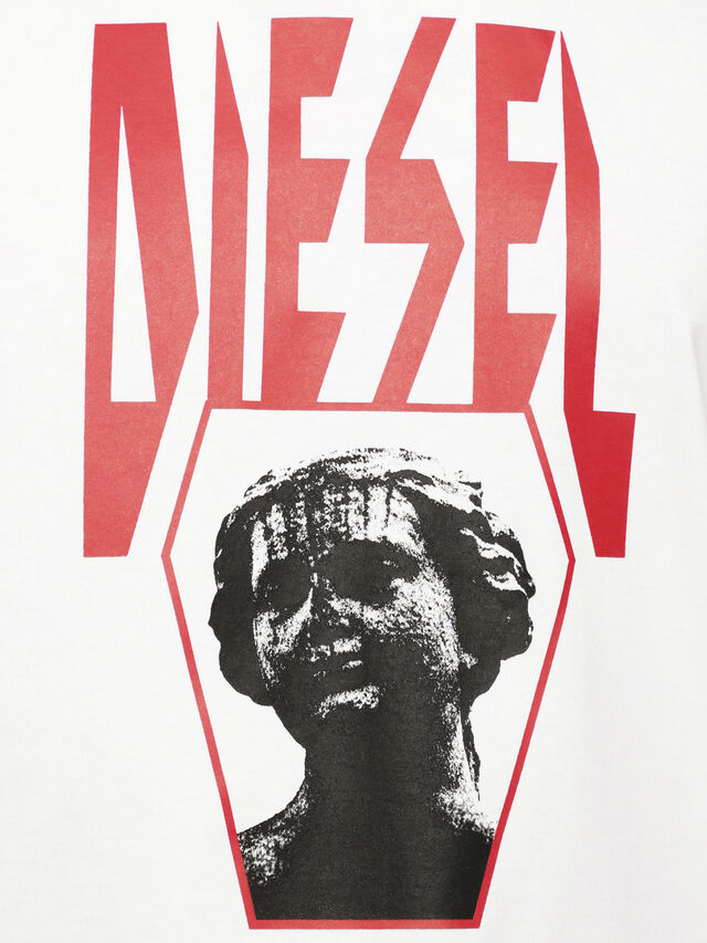 Diesel - T-JUST-YE, White - T-Shirts - Image 3