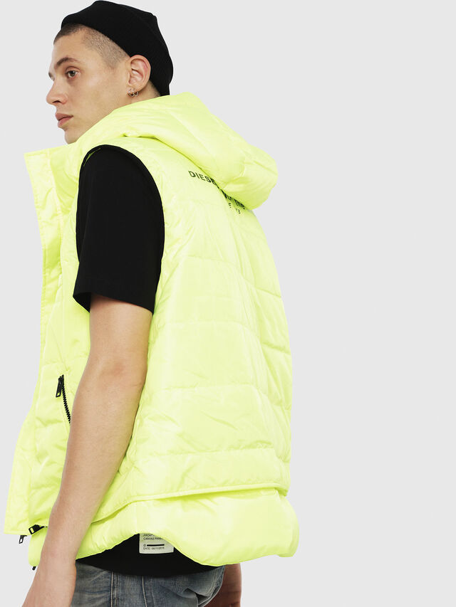 Diesel - W-SUN-REV-SLESS, Yellow Fluo - Winter Jackets - Image 2