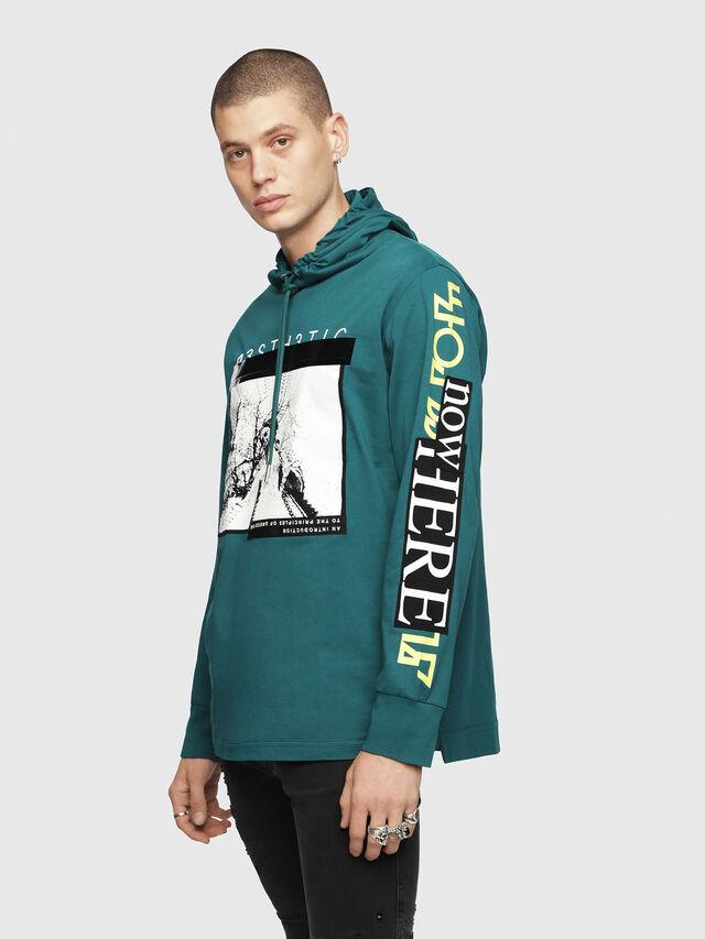 Diesel - T-FONTY-YB, Dark Green - T-Shirts - Image 1