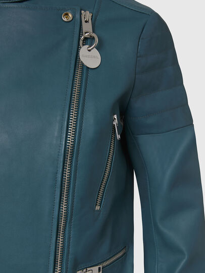 Diesel - L-MARS, Water Green - Leather jackets - Image 4