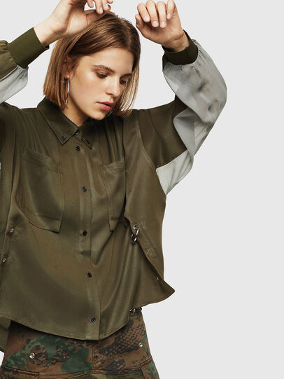 Diesel - C-LEXYS, Military Green - Shirts - Image 5