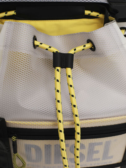 Diesel - F-SUSE BACKPCK, White/Yellow - Backpacks - Image 6