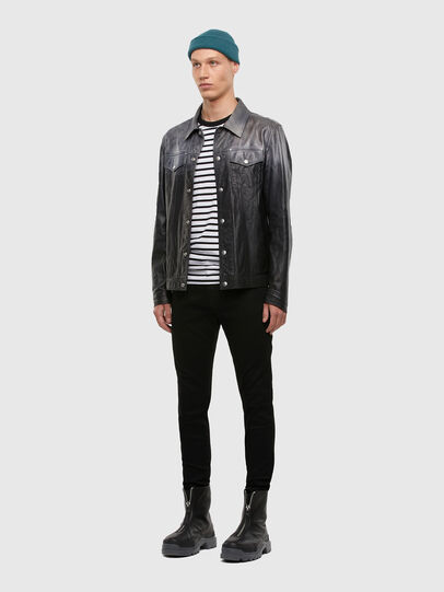 Diesel - L-NHILL-TRE, Black - Leather jackets - Image 5