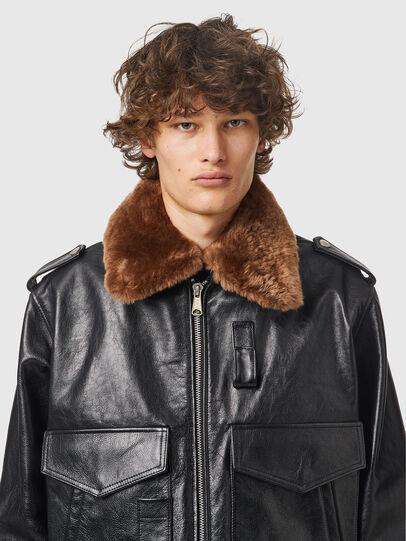 Diesel - L-WELTIK, Black - Leather jackets - Image 3