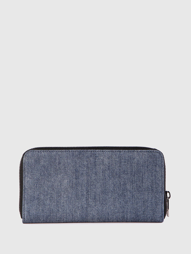 Diesel 24 ZIP, Blue Jeans - Zip-Round Wallets - Image 2