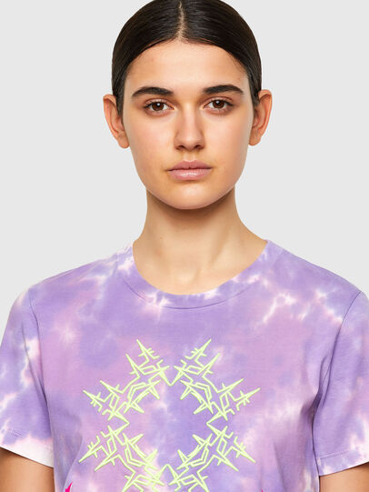 Diesel - T-SILY-A12, Lilac - T-Shirts - Image 4