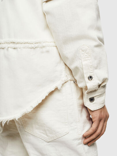 Diesel - D-KURTIS, White - Denim Shirts - Image 4
