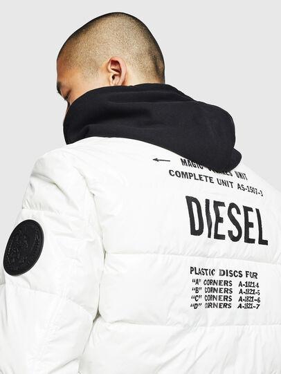 Diesel - W-ON, White - Winter Jackets - Image 5