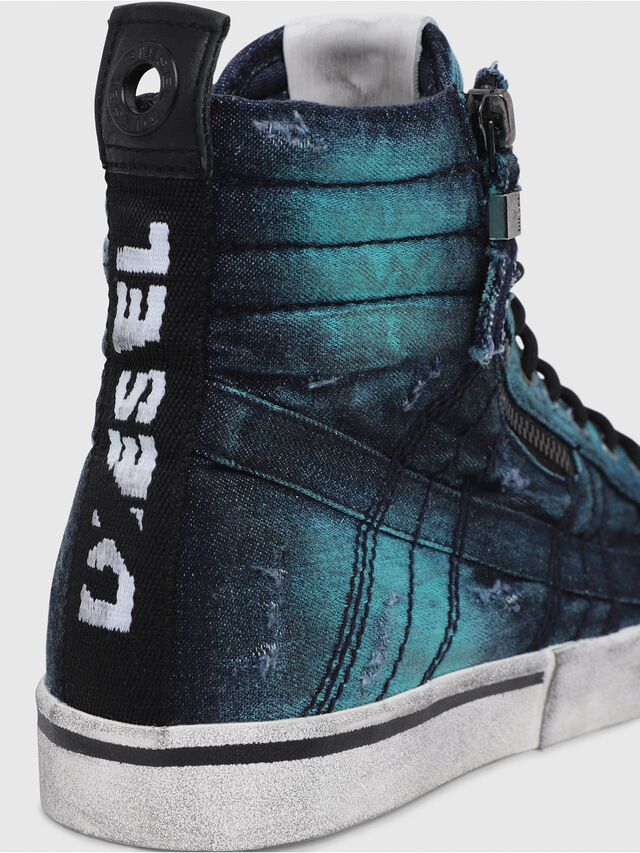 Diesel - D-VELOWS MID LACE, Turquoise - Sneakers - Image 4