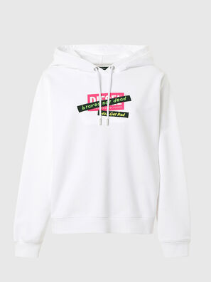 F-ANG-HOOD-R20, White - Sweaters