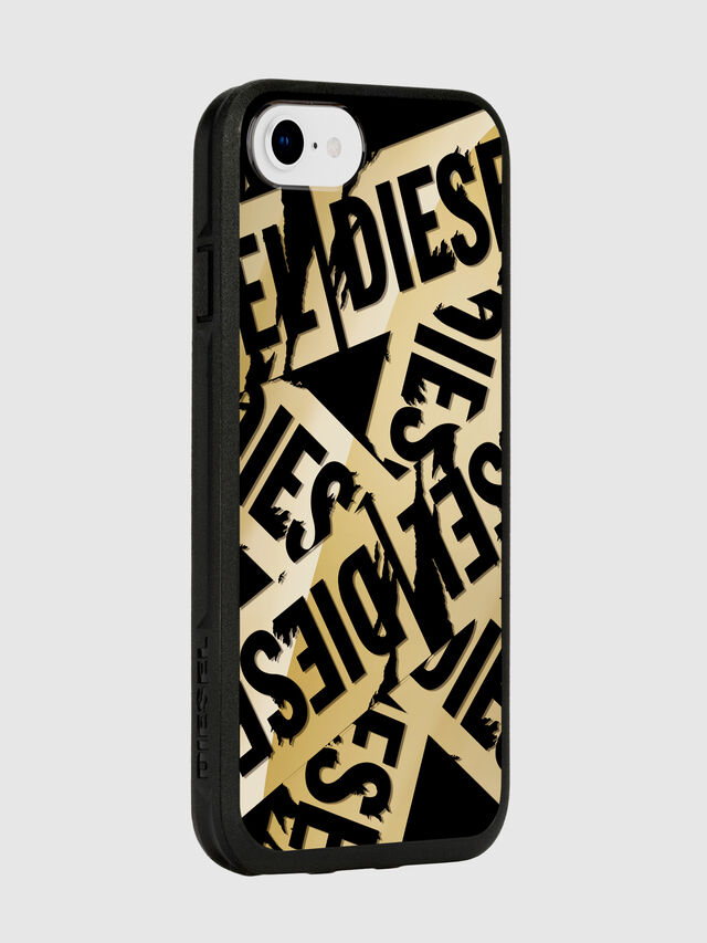 Diesel - MULTI TAPE GOLD/BLACK IPHONE 8/7/6S/6 CASE, Gold - Cases - Image 6