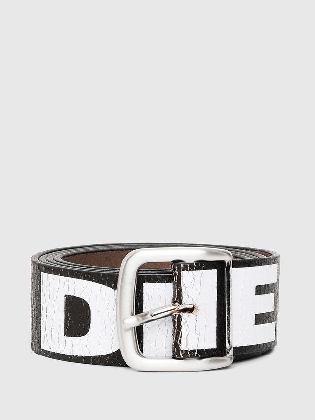 Diesel - B-ARBARANO, Black/White - Belts - Image 1