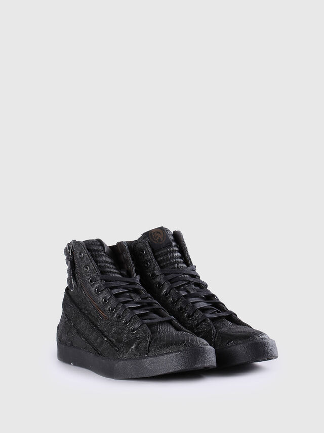 Diesel - D-STRING PLUS, Black Leather - Sneakers - Image 2
