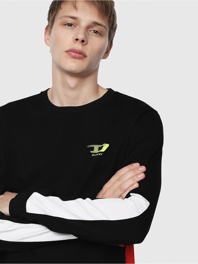 Diesel - T-HARUS-LS, Black - T-Shirts - Image 3