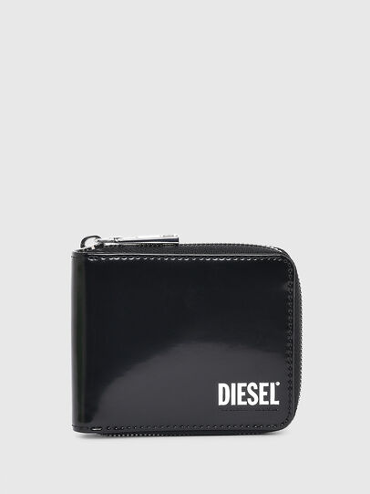Diesel - HIRESH XS ZIPPI, Black - Zip-Round Wallets - Image 1