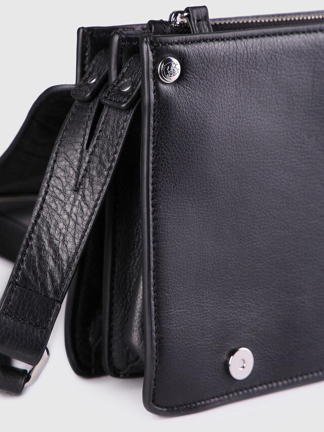 Diesel LE-MISHA, Black Leather - Crossbody Bags - Image 3