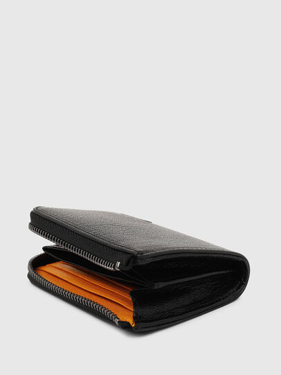 Diesel - L-PASSME, Black/Orange - Small Wallets - Image 4