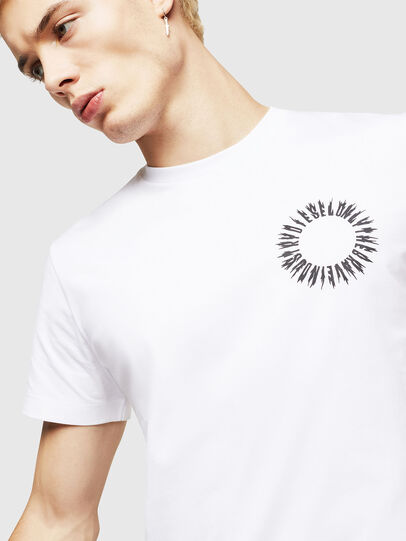 Diesel - T-DIEGO-A12, White - T-Shirts - Image 3