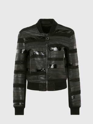 L-WALL, Black - Leather jackets