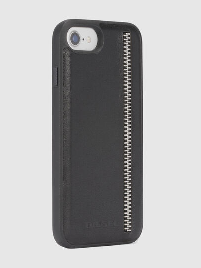 Diesel - ZIP BLACK LEATHER IPHONE 8/7/6s/6 CASE, Black - Cases - Image 5