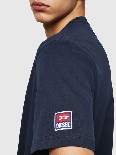 Diesel - T-JUST-DIVISION-D, Dark Blue - T-Shirts - Image 4