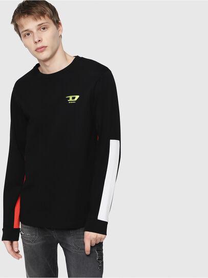 Diesel - T-HARUS-LS, Black - T-Shirts - Image 1