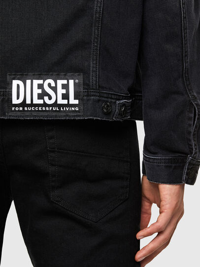 Diesel - NHILL-SP4, Black - Denim Jackets - Image 5