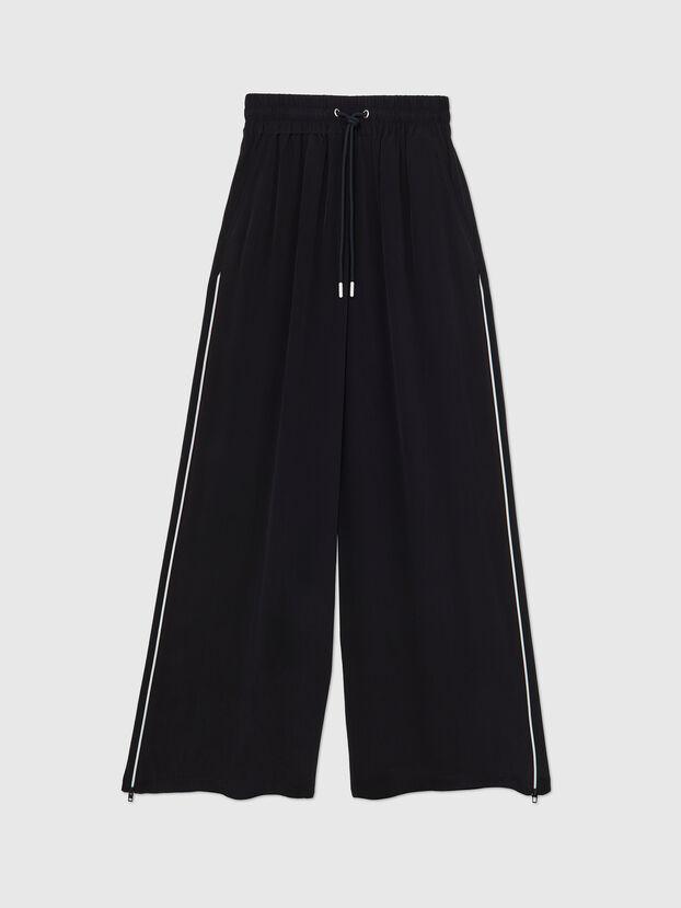 P-CHINILLE-WOV, Black - Pants