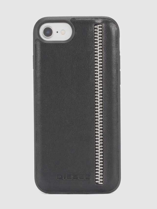 ZIP BLACK LEATHER IPHONE 8/7/6s/6 CASE, Black