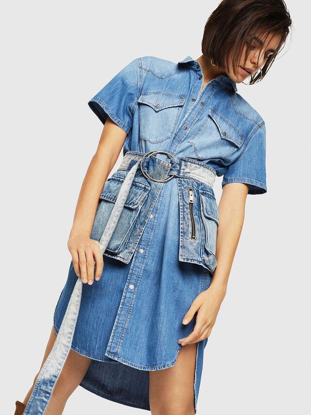 Diesel - DE-BLANCHE-SL, Blue Jeans - Dresses - Image 5