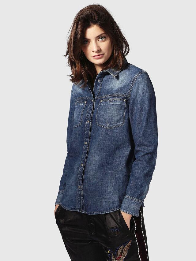 Diesel DE-KERI, Blue Jeans - Denim Shirts - Image 2