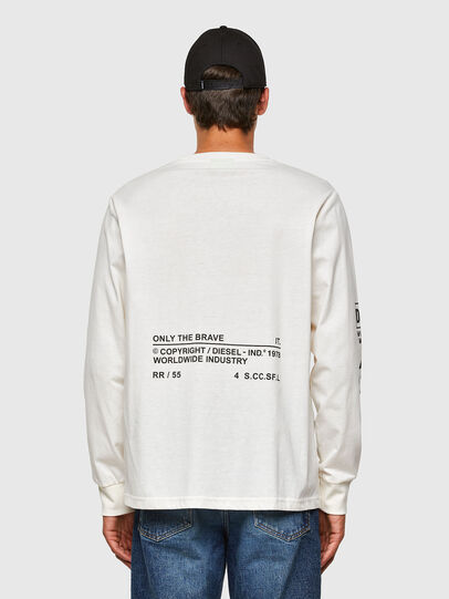 Diesel - T-JUST-LS-N60, White - T-Shirts - Image 2