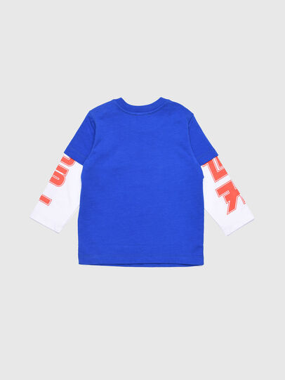 Diesel - TUCOB, Blue/White - T-shirts and Tops - Image 2
