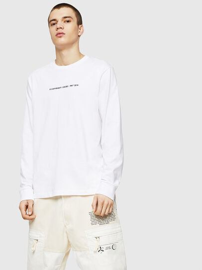Diesel - T-JUST-LS-COPY, White - T-Shirts - Image 1