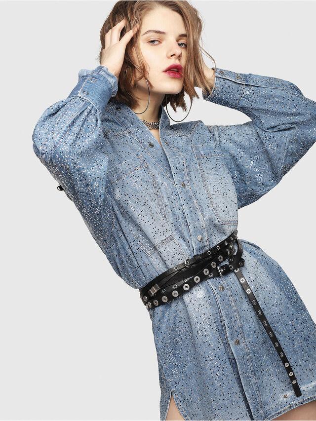 Diesel - DE-SUP-S, Blue Jeans - Dresses - Image 8