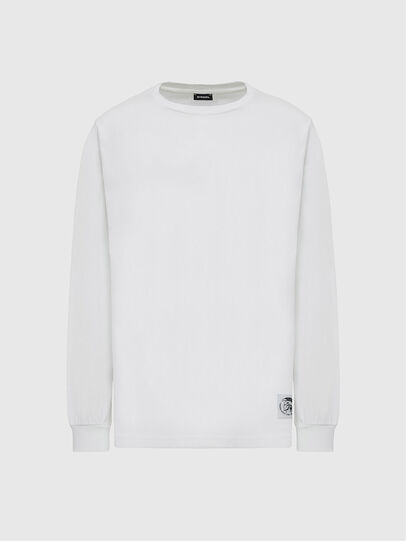 Diesel - T-JUST-LS-MOHI, White - T-Shirts - Image 1