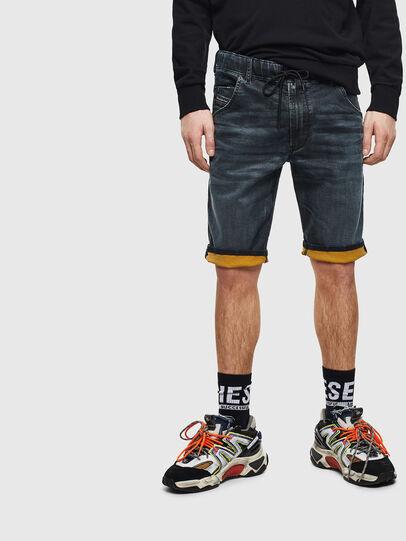 Diesel - D-KROOSHORT JOGGJEANS, Dark Blue - Shorts - Image 5