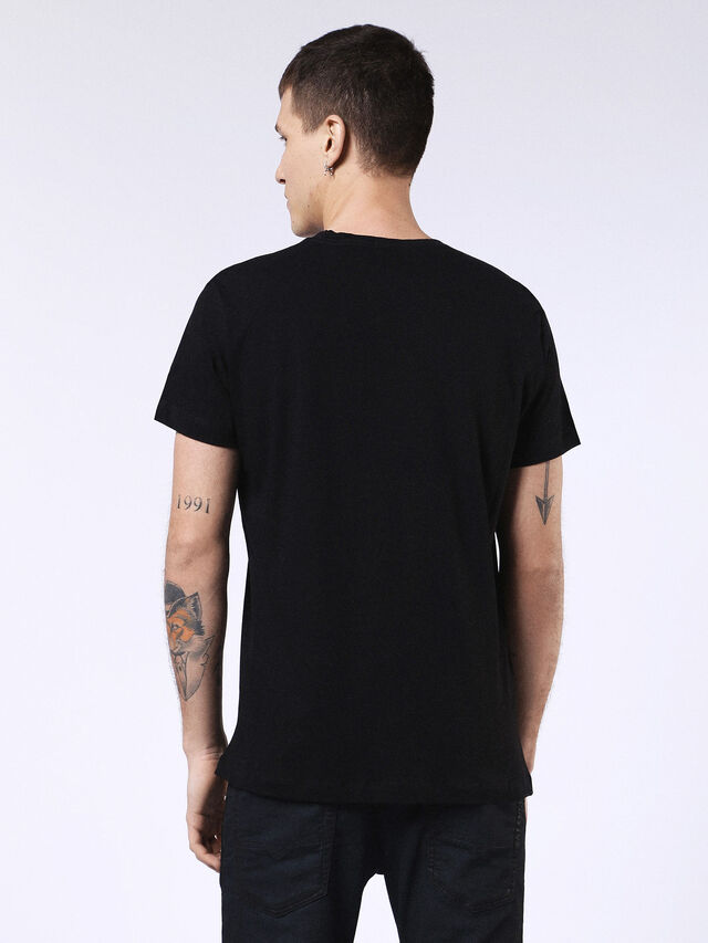 DVL-T-SHIRT-ML-RE, Black