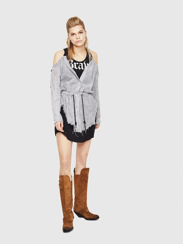 Diesel - D-JUDY, Black/Grey - Dresses - Image 5