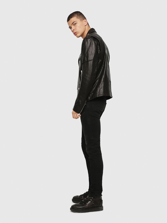 Diesel - SE-LEANDRO, Black Leather - Leather jackets - Image 6