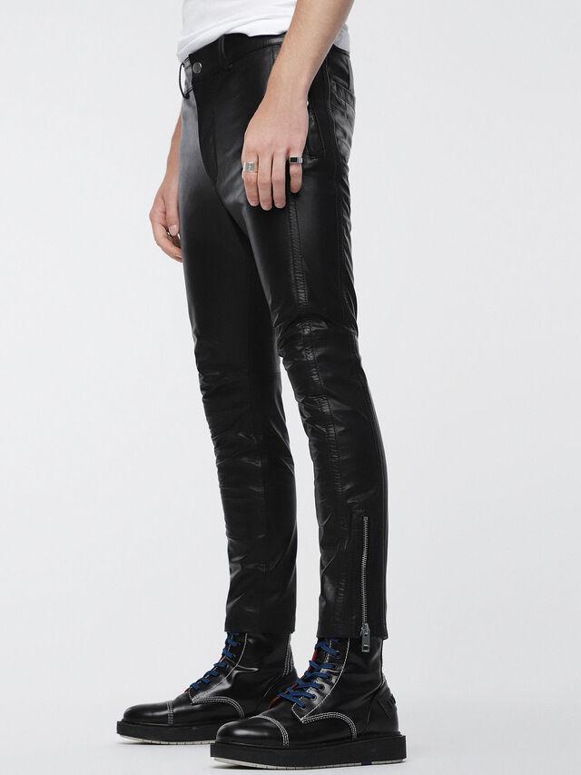 Diesel - P-MONTE-L, Black Leather - Pants - Image 3